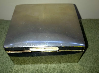 Cigarette Box - White Metal and Wood