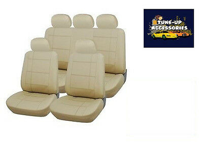 Beige Real Leather Look Seat Covers For Infiniti Ex 09-On