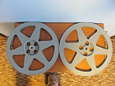 2 New 1600 Ft 16Mm Plio-Magic Gray Plastic Film Reels