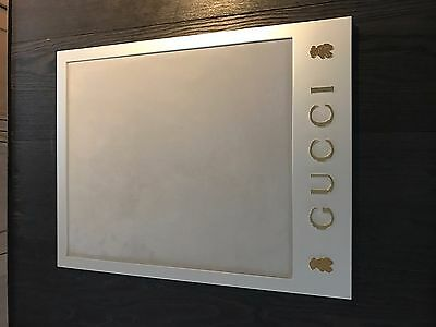 Luxury auth Gucci tray with gold bear /suede Bedroom, Nursery, picture display
