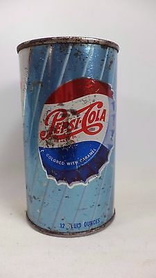 VINTAGE PEPSI-COLA PEPSI BLUE 12 OZ ALUMINUM PULL TAB Soda Pop CAN  Empty Metal