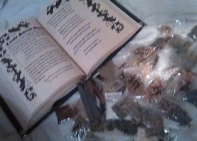 40 Herbs & Custom Spell Book of Shadows Combo Witchcraft Pagan Handmade Grimoire