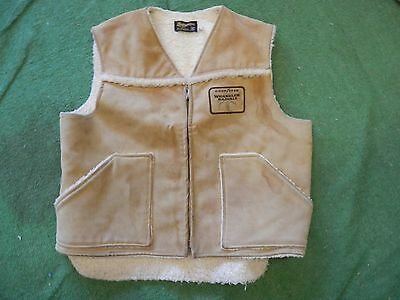 vintage goodyear wrangler tires lined vest cowboy retro size XL hunting ranching