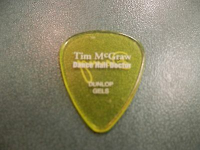 Tim McGraw dance hall doctor Denny Guitar Pick country Concert Tour Authentic