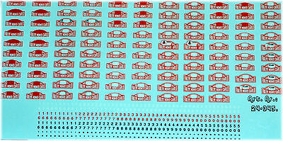 Monte Carlo Rally Plates 1949 - 1999 Including small numbers 1:24 Decal Decal