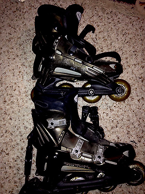 Rollerblade INLINE SKATES Viablade Parkway Size 9.5 US Black Made in Italy