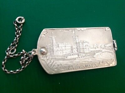 Nathaniel Mills Castle Top Antique English Sterling Silver Dance Card Memoire