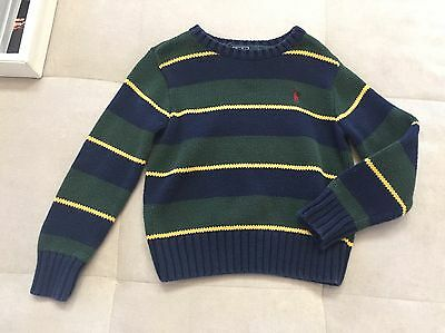 Baby Boy Polo Ralph Lauren Size 3T Blue Green Cotton Sweater
