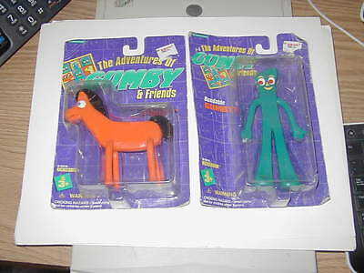 Vintage 1995 GUMBY & POKEY TRENDMASTERS PREMA TOY CO. FACTORY SEALED !