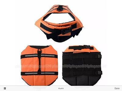 Dog life jacket- Orange- Large- Brand New.