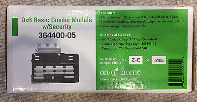 OnQ Home 364400-05 9x6 Basic Combo Telecom Module w/ Security NEW