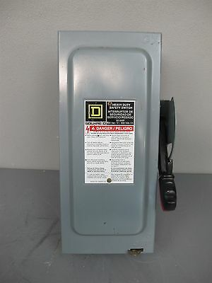 Square D HU361 Heavy Duty Safety Switch Disconnect 30A 600V