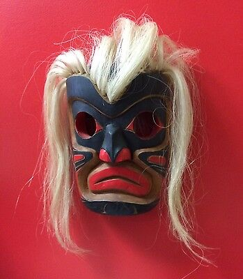 West Coast Native Mask Signed Tommy Price Wild Man