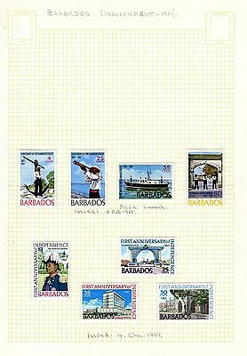 2 sets of 1967 Barbados stamps