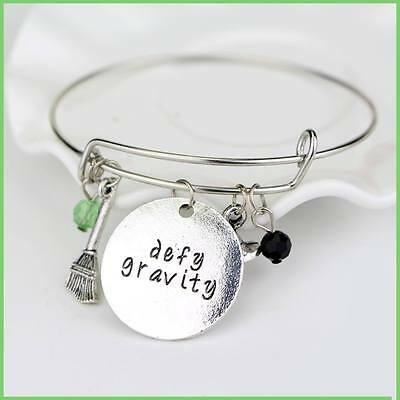 "Wicked the Musical Inspired Bracelet ""Defy Gravity"" Wizard of Oz"