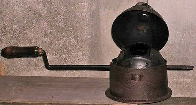 """Antique Cast Iron French 6"""" Cannonball Coffee Roaster Brevete SGDG Chimney Stand"""