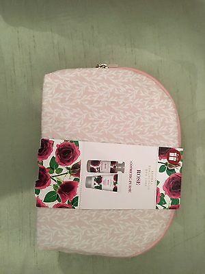 BNWT Marks and Spencer Rose cosmetics purse
