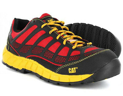 Caterpillar STREAMLINE CT Mens Red Black Nylon P90287 Work Safety Toe Shoes