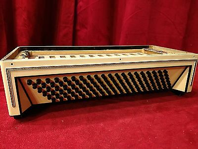 Cream Wurlitzer Accordion Repair Part - Bass Section 120 Buttons 15.35""