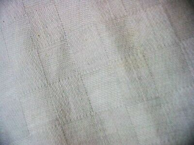antique coverlet?tablecloth?vtg?cotton?linen?checkered fabric/wht bed sheet?