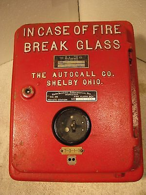 Vintage Auto-Call manual break glass coded fire alarm station