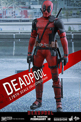 "Hot Toys Marvel DEADPOOL 12"" Action Figure 1/6 Scale MMS347 In Stock"