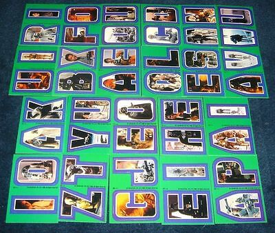 Star Wars Empire Strikes Back ESB Vintage Sticker Card Set 3 NM/MINT 67-88 Green
