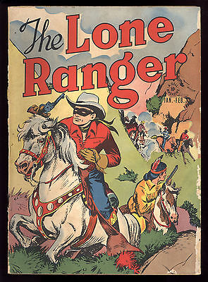 Lone Ranger (1948) #1 1st Print Red Shirt Cave Of The Ghost Dell Comics HTF Fair