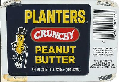 Label-PLANTERS Peanut Butter.PA.Original 1976 NUTS advertising= ProductsOverTime
