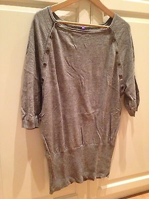 Seraphine Grey Knitted Nursing Top, Size 12