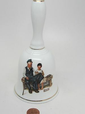 """THE LIGHTHOUSE KEEPER'S DAUGHTER Porcelain NORMAN ROCKWELL 1985 BELL 6""""T MUSEUM"""