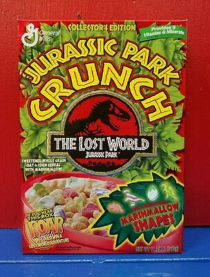 Jurassic Park Crunch cereal box General Mills