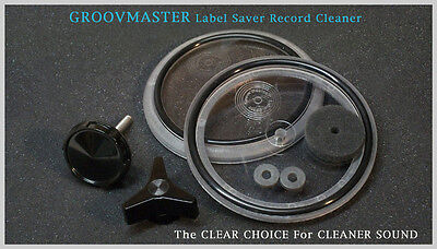 GROOVMASTER™ Label Saver Protector Vinyl Record Cleaner 45 RPM 33 1/3 LP Album