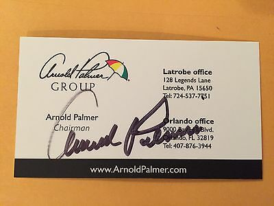 ARNOLD PALMER autograph THE KING Masters business card signed