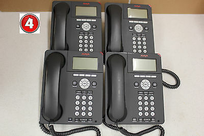 (Lot of 4) Avaya 9620 IP VOIP Business Office Phone 1632-06-3190 With Stand