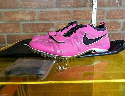 Nike Bright Pink & Black Womans Spike Sprint Running Shoes Size 8 New Boxed