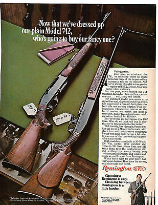 Vintage REMINGTON MODEL 742 RIFLE Gun Advertisement AD