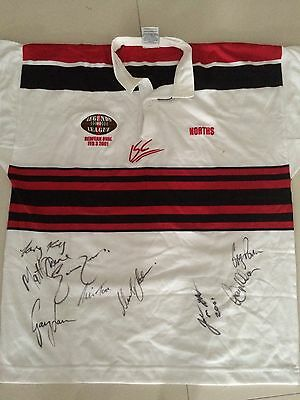 2001 Legends Of League Signed Norths Jersey
