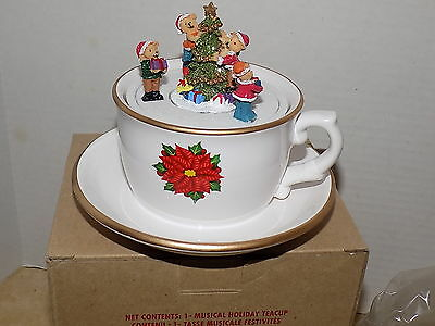 Avon 2012 Musical Holiday Teacup - NEW IN BOX