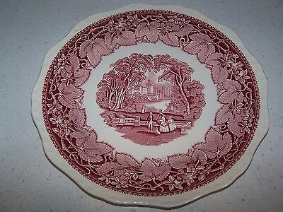 Masons / Mason's Pink / Red Vista 10 3/4'' Banquet Or Large Dinner Plate