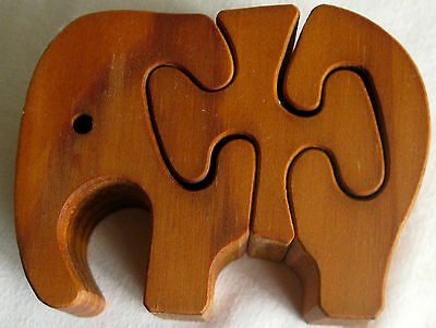 Collectable Wooden Elephants Jigsaw (25)