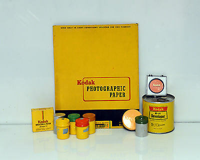 Vintage Kodak Paper Developer Filters Photography Display lot