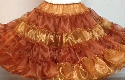 90 Triple Later Cinnamon Mirror Organza By Evas Petticoats