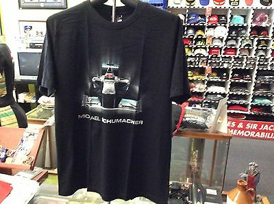 Michael Schumacher Tech Grafic Black T-Shirt Size Medium Brand New