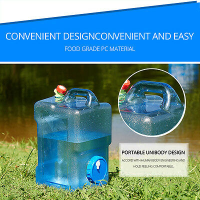 Water Container 12 L Camping Hiking Clean Water Fingertips Convenience Sporting