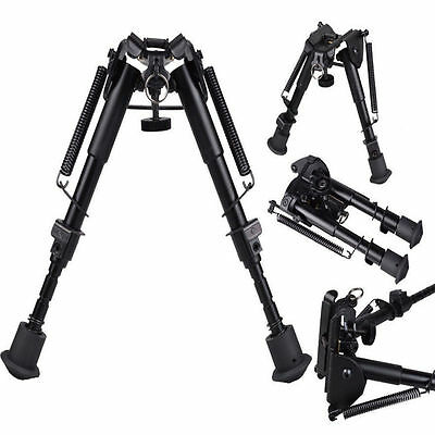 """Adjustable Legs 6"""" to 9"""" Height Sniper Hunting Rifle Bipod Sling Swivel Mount Y"""
