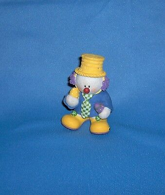 SNOWONDERS Sarah's Attic Snowman EASTER Clown Figurine Snickers Numbered