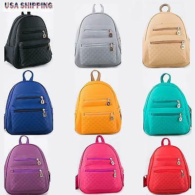 Fashion Women Lady Leather Travel School Bag Backpack Shoulder Rucksack Satchel