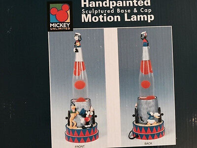 Clearance!! NIB DISNEY MICKEY MOUSE LAVA LAMP CIRCUS DONALD DUCK GOOFY RETIRED