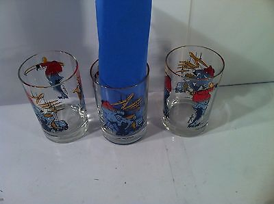 (3) New Orleans--Jazz--Glasses / Tumblers / High Ball------Ships Free---Euc
